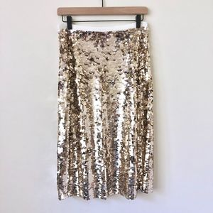 NWT Jcrew sequin midi skirt